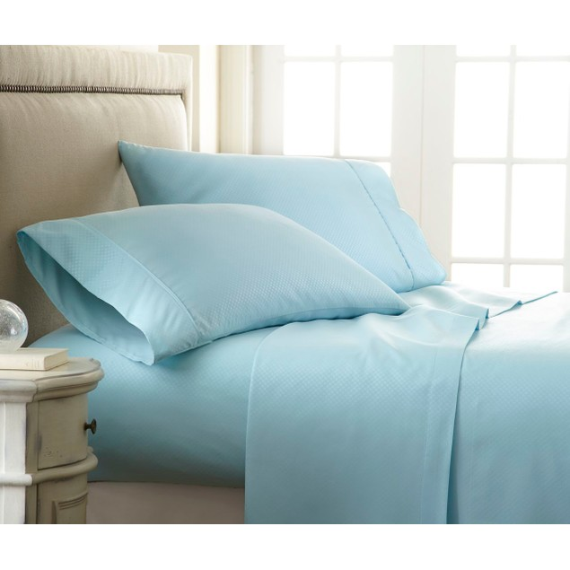 Merit Linens Ultra Soft 4 Piece Checkered Bed Sheet Set