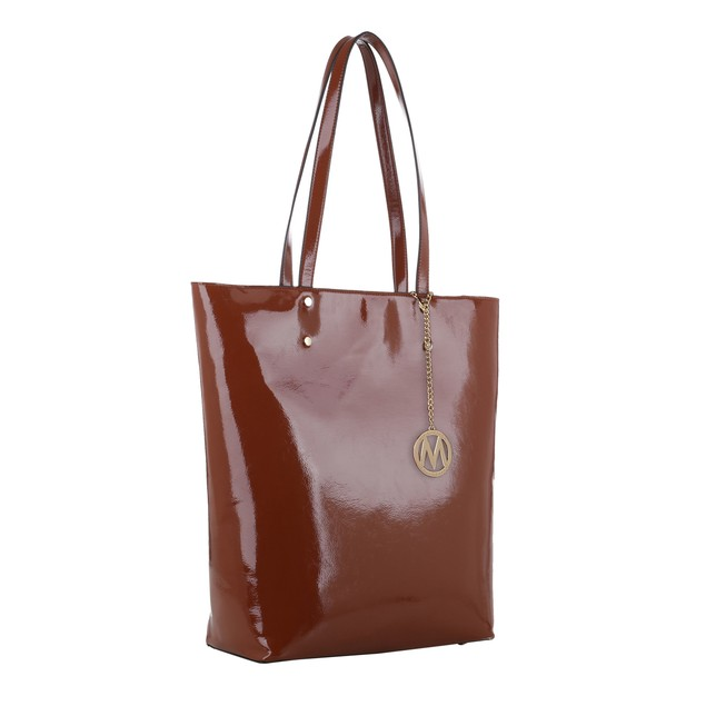 MKF Collection Abeille Patent Tote Bag by Mia K.