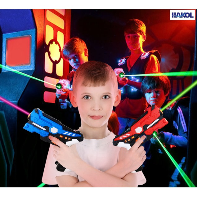 4-Player Multi Function Laser Tag Set w/ Vests for Kids