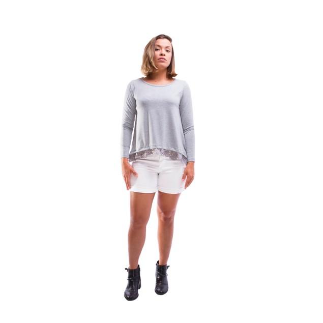 Loose Lace Bottom Shirt