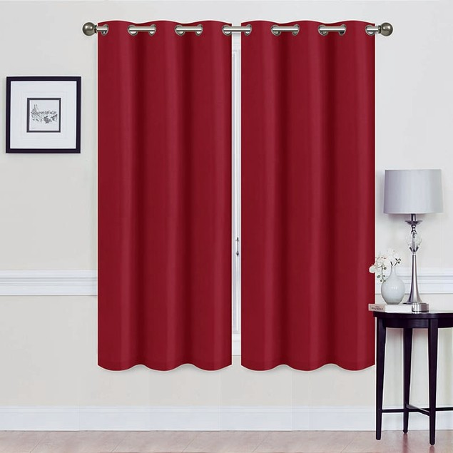 "Extra Wide Holly 108"" x 63"" Blackout Energy-Saving Curtains"