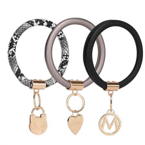 MKF Collection Jasmine 3 Pcs Set Key Ring by Mia k.