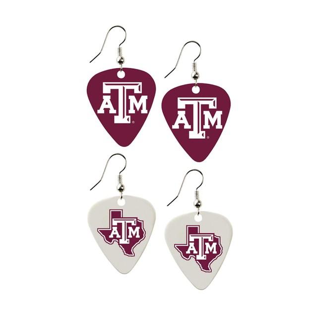NCAA Guitar Pick Dangle Earrings Charm Gift - Set of 2
