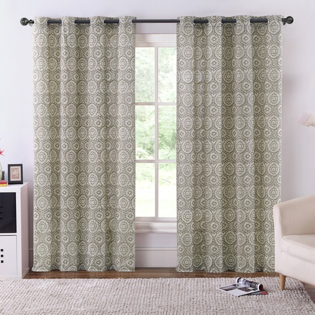Ruthy's Textile 2-Piece Lined & Thermal Insulated Blackout Grommet Curtains