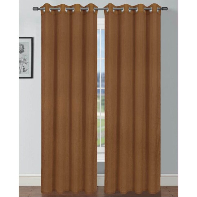 "Solid Design Tafta Crush 104""x84"" Grommet Window Panel Pair"