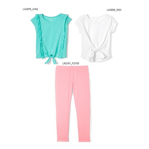 3-Pack French Toast Girls Summer Set - Pastel Ruffles