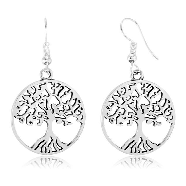 Tree of Life Drop Earrings