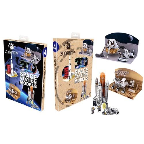 Zunammy 3D Pop Up Space Stations