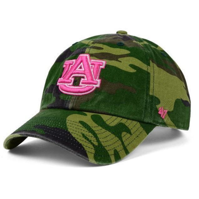 "Auburn Tigers NCAA 47' Brand ""Fashion"" Clean Up Adjustable Hat"