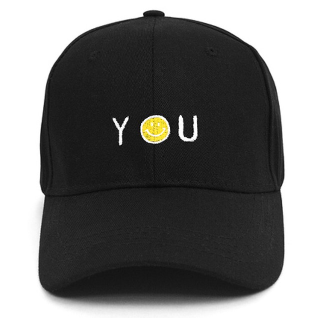 "Smiley ""You"" Embroidered Baseball Cap"