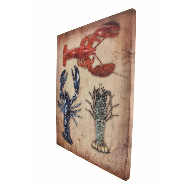 Set Of 2 Lobster/Crab Canvas Wall Hangings Prints