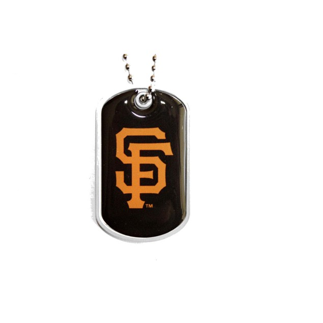 MLB Sports Team Dog Tag Domed Necklace Charm Chain