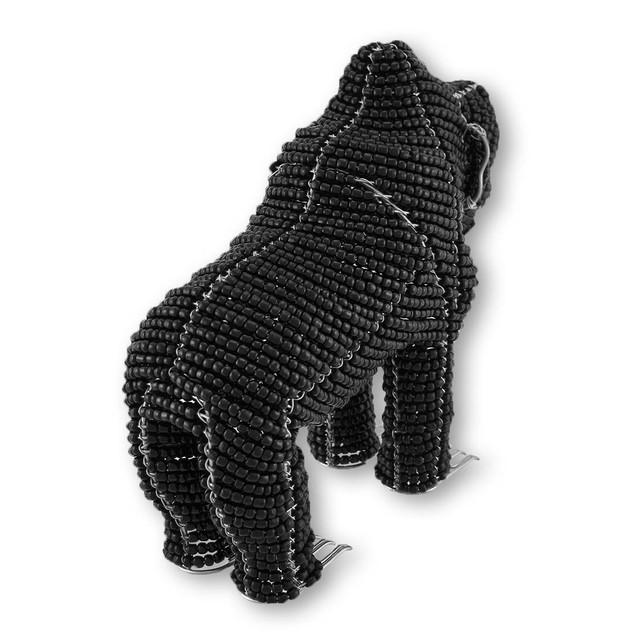 Beadworx Black Gorilla Glass Bead Sculpture Statues