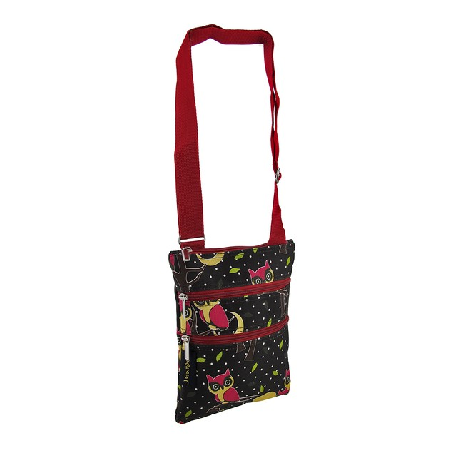 Cross Body Travel Bag Owls And Polka Dots Womens Cross Body Bags