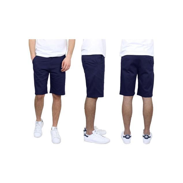 Men's 5-Pockets Flex Stretch Cotton Chino Shorts