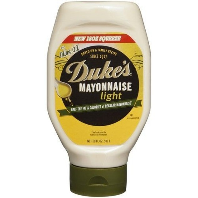 Duke's Light Mayonnaise With Olive Oil 18 oz Bottle