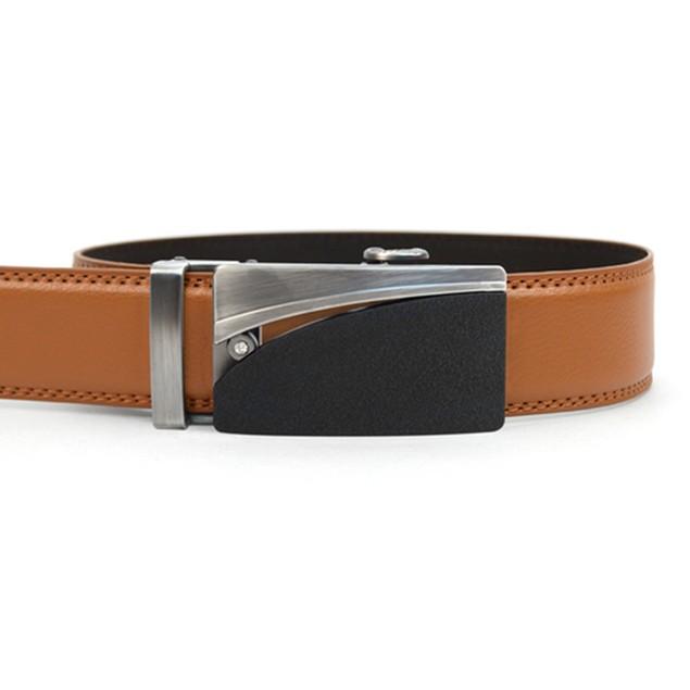 2-Pack Mystery Men's Genuine Leather Sliding Buckle Ratchet Belt