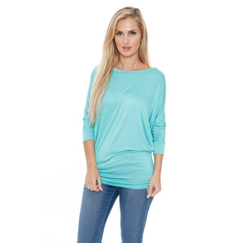 Banded Dolman Top