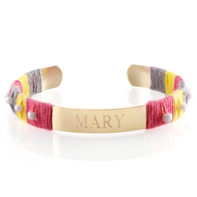 Beaded Personalized Cuff Bracelet - 3 Styles
