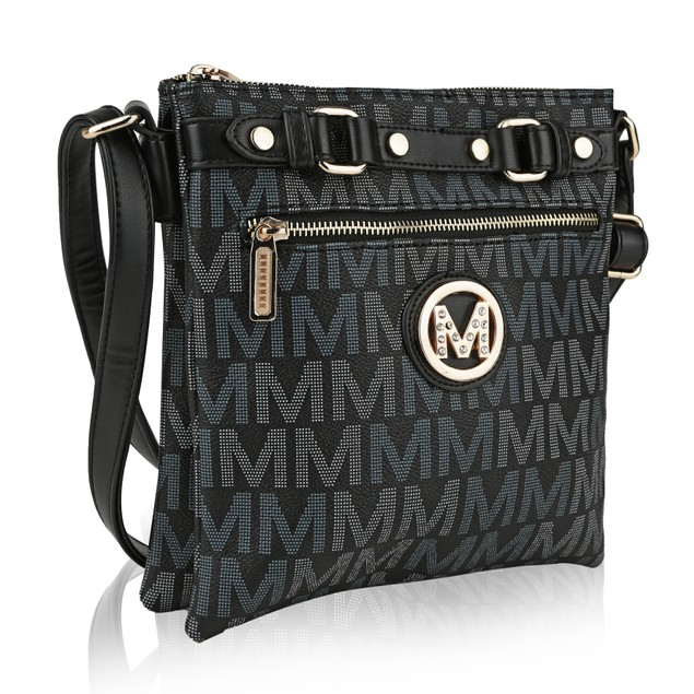 MKF Collection Polly Milan M Signature Cross body by Mia k.