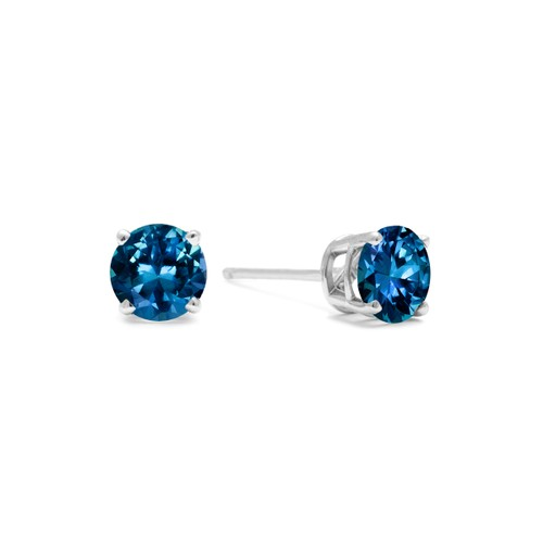 White Gold 1/3ct Blue Diamond Stud Earrings