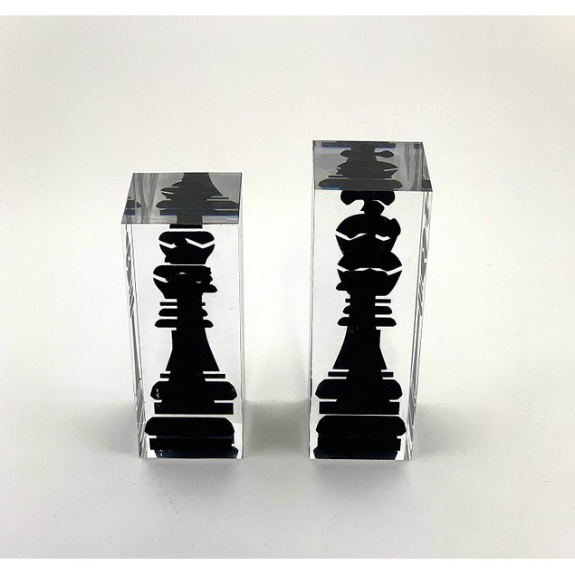 "INFINITY 17.3"" Lucite Chess Set Luxury, Professional and Premium Quality"