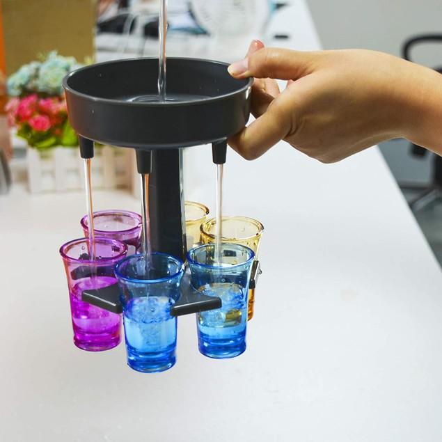 6 Shot Glass Dispenser and Holder