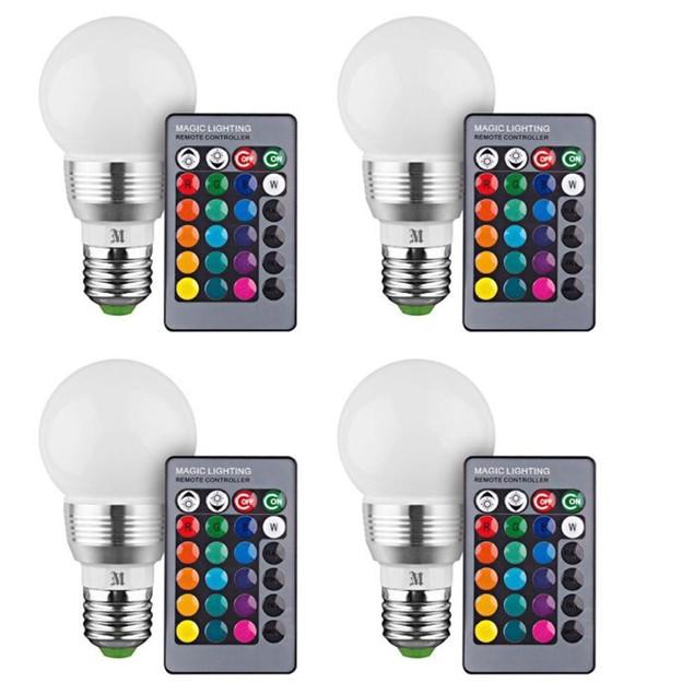 4-Pack Multi-Pack Massimo RGB Round Bulbs