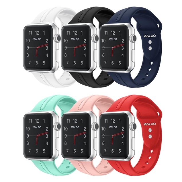 Waloo Silicone Sports Band for Apple Watch Series 1, 2, 3, or 4