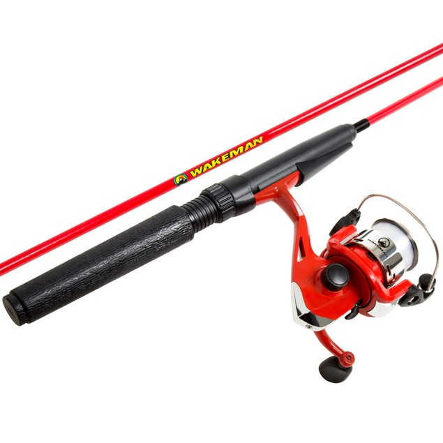 Wakeman Spawn Series Spinning Combo and Tackle Set - Fire Red