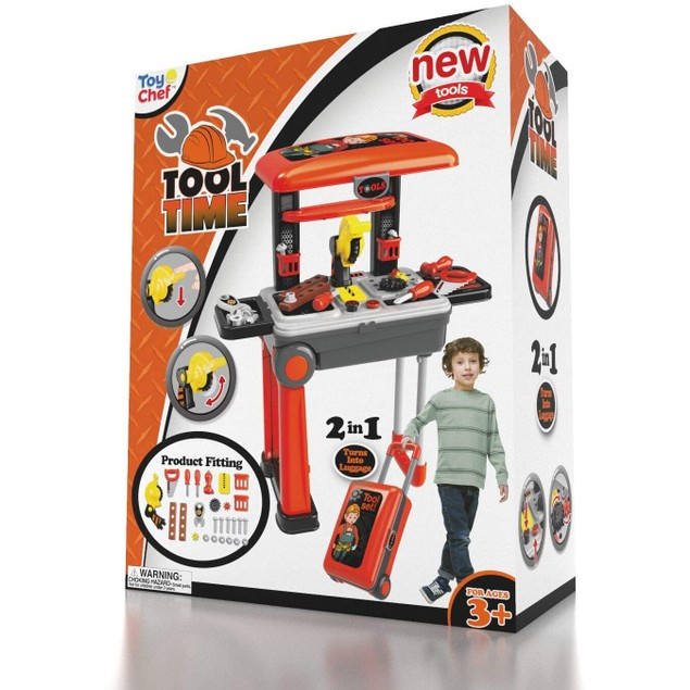 2-in-1 Travel Suitcase Tool Set for Children