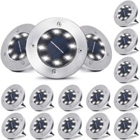 Deals on 16-Pack Outdoor Waterproof Solar Ground/Pathway Lights 8-LED