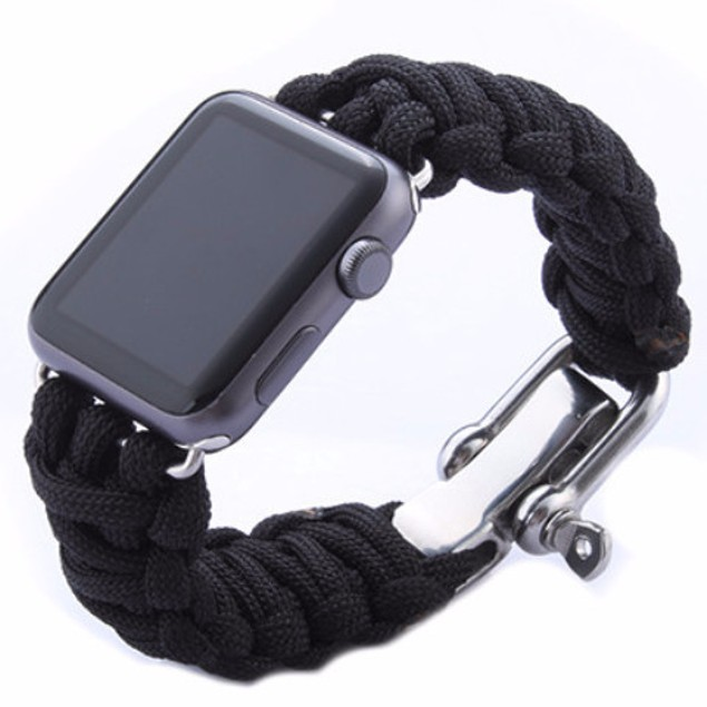 iPM Weave Replacement Watch Band with Stainless Steel Clasp for Apple Watch
