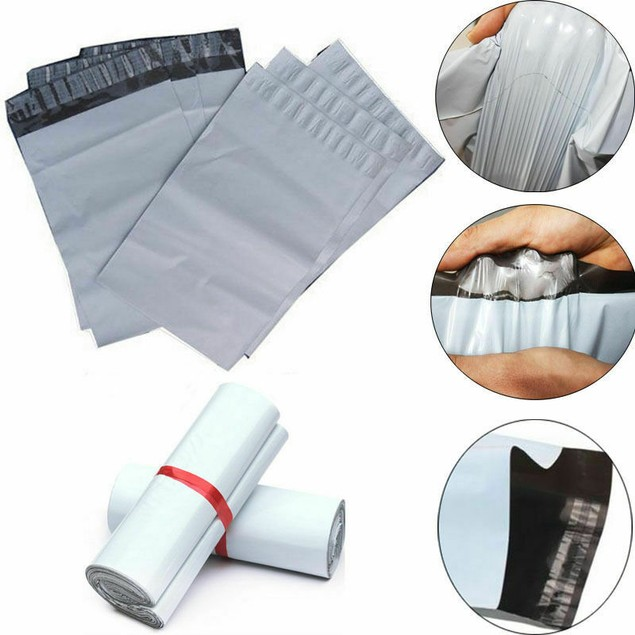10 Pack: 12x15 Self Sealing Plastic Shipping Poly Bags