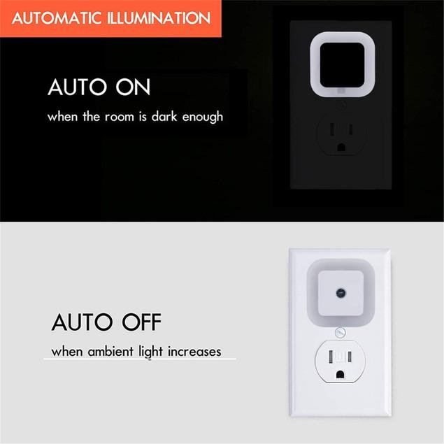 8-Pack LED Plug-in Night Light