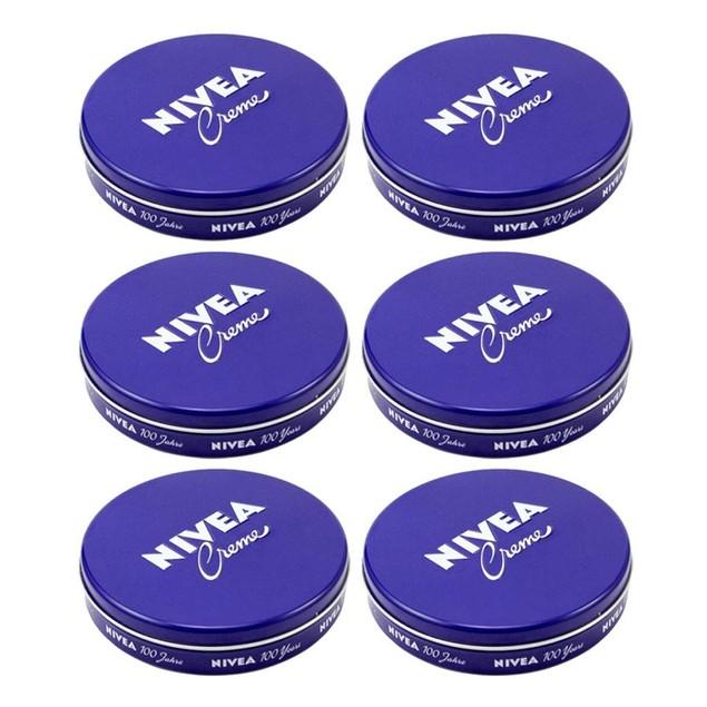 Nivea Cream Creme 2oz/60ml Body Face Skin Hand Cream Moisturizer (6-Pack)