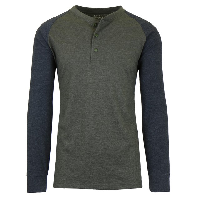 Men's Long Sleeve Marled Henley Tee
