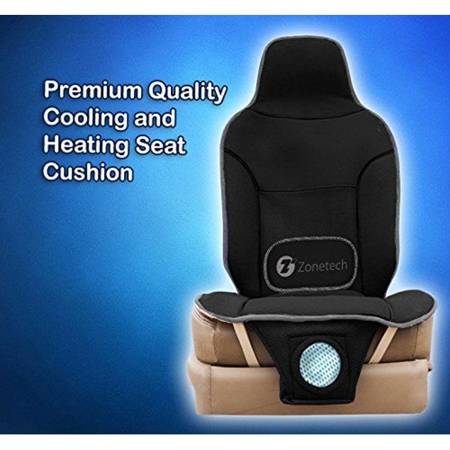 Zone Tech 2x Car Seat Cover Cushion Cooling Fan Cooler Heated Massaging