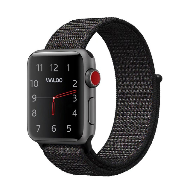 Waloo Sport Loop Breathable Nylon Weave Band for Apple Watch 4/3/2/1