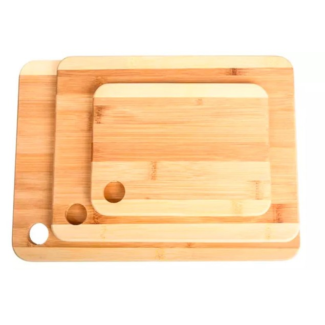 3-Pack Bamboo Cutting Boards - 2 Styles