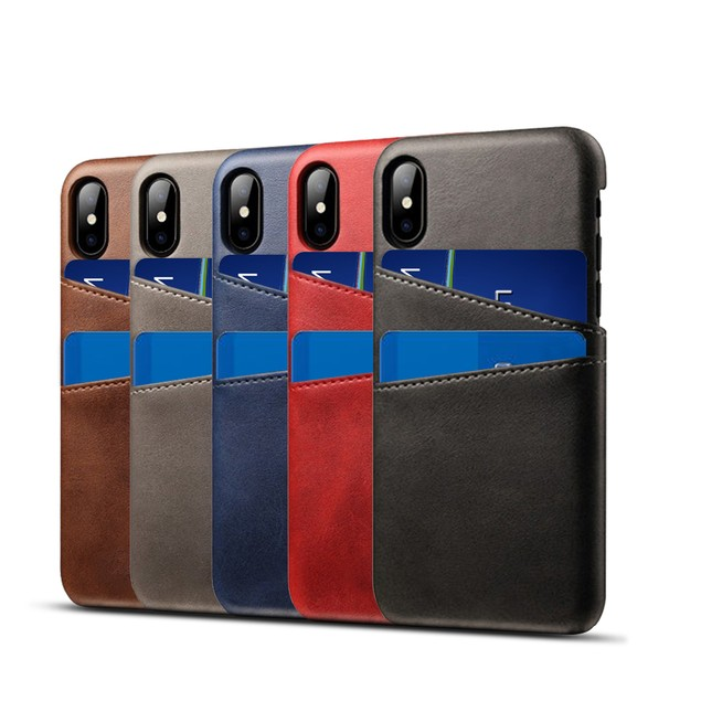 Waloo Dual-Slot Credit Card Case for iPhones