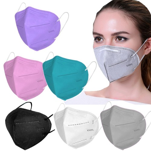 30-Pack Multi-Color KN95 Masks Breathable Fabric (Assorted Color Packs)