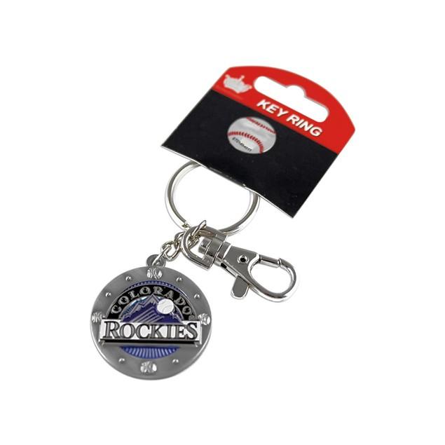 MLB Sports Team Impact Metal Key Ring Keychain