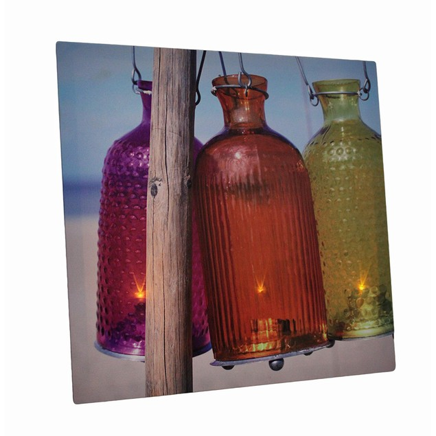 Beach Lanterns 15 X 15 Led Lighted Canvas Wall Prints