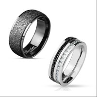 2-Pack Mystery Men's 8mm Rings - Choose Ring Size