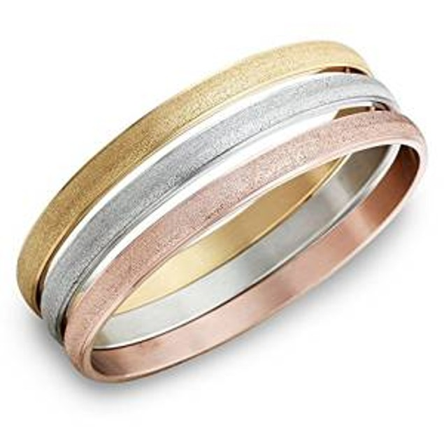 3-Pack Stackable Glitter Finish Bracelets in 3 Colors