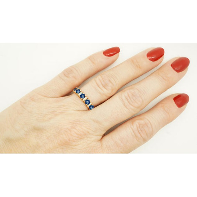 18kt Rose Gold Sapphire Eternity Band Ring