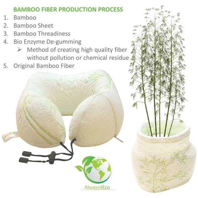 Always4Eco Bamboo Memory Foam Neck Pillow