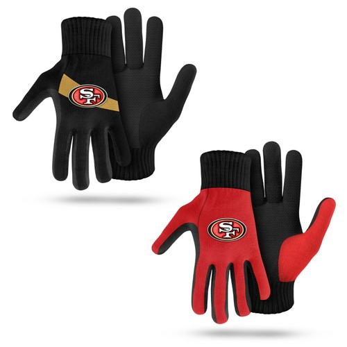 2-Pack Wincraft NFL Utility Gloves w/ 3D Logo- Over 15+ Teams to choose from