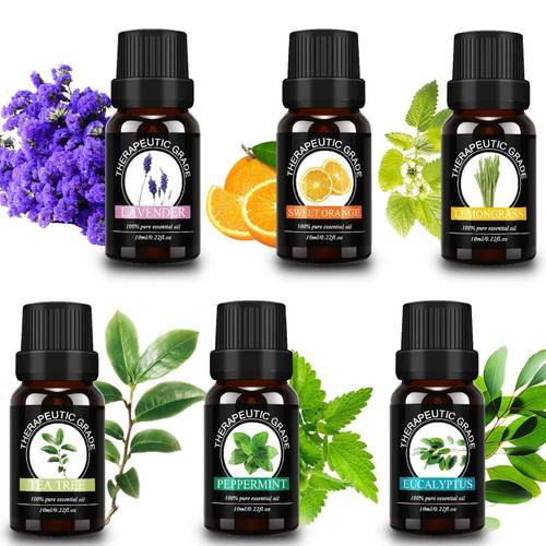 6-Pack Waloo Pure Essential Oils